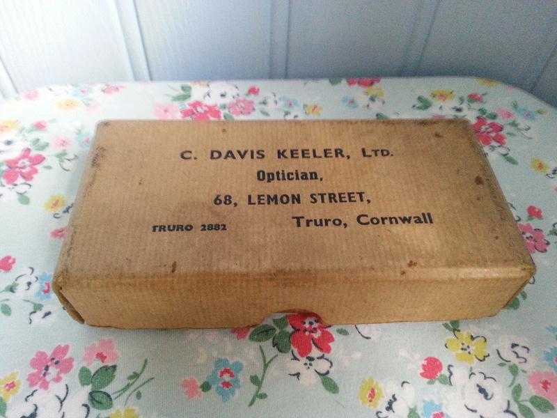 Vintage Opticians Box C Davis Keeler Ltd 68 Lemon Street Truro Cornwall