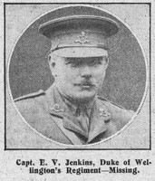 Jenkins E V Captain West Riding Regiment The Graphic 5th Sep 1914