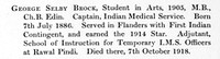 Brock G S Captain Indian Medical Service Obit St Andrews University Roll Of Honour