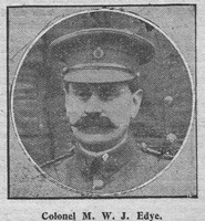 Edye M W J Col Army Service Corps The Graphic 20th Aug 1914