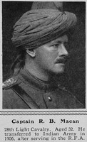 Macan R B Captain Indian Army The Sphere 7th Aug 1915