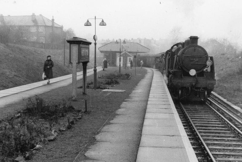 A Steam Train At West Sutton Station Surrey 1950s