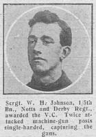 Johnson W H Sergt VC 5th Notts Derby Regiment The Graphic 17th Dec 1918