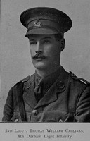 Callinan T W 2nd Lt 8th Durham Light Infantry The War Record Of Old Dunelmians 1914-1919