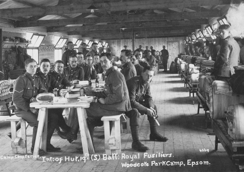 Royal Fusiliers 19th Battalion Woodcote Park Camp
