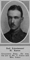 Eaton H 2nd Lt Gloucs Regt The Sphere 13th Oct 1917
