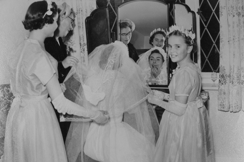 Gladys Brenchley With Her Bridesmaids