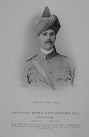 Bickford A L Lt Col Indian Army