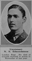 Edmondstone N S Lt London Regt The Sphere 20th Apr 1918