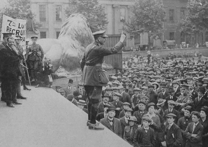 A Recruiting Meeting In Trafalgar Square