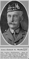 MacDougall S Lt Col 10th Gordon Highlanders The Sphere 28th Aug 1915