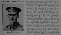 Newman A Cpl 16th Middlesex Regiment Obit De Ruvignys Roll Of Honour Vol 3