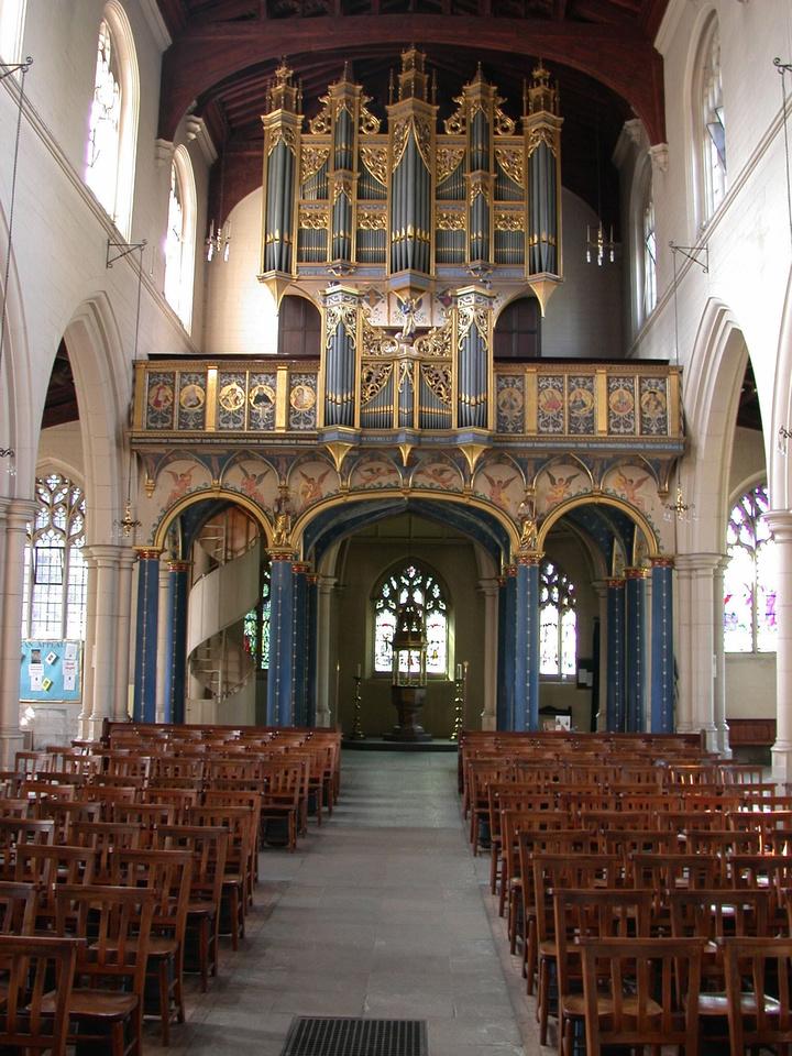 Interior View All Saints Church Carshalton Surrey