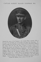 Chapman R M Captain MC General Staff Northern Assurance Co War Record