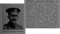 Newman W G Pte 9th Royal Fusiliers Obit De Ruvignys Roll Of Honour Vol 3