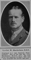 MacFarlane W Lt Col DSO 15th Highland Light Infantry Attd Seaforth Highlanders The Sphere 17th Mar 1917