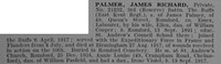 Palmer J R Pte 21232 3rd East Kent Regiment Obit De Ruvignys Roll Of Honour Vol 4