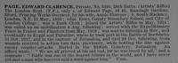 Page E C Pte 5595 28th London Regiment Obit De Ruvignys Roll Of Honour Vol 4