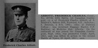 Abbott F C Cpl 20738 10th Canadian Infantry (Alberta Regiment) Obit De Ruvignys Roll Of Honour Vol 1