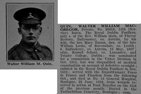 Quin W W M Pte 28652 11th Attd 8th Royal Dublin Fusiliers Obit De Ruvignys Roll Of Honour Vol 4
