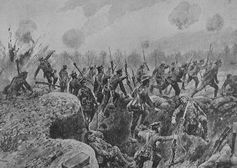 The Royal Inniskilling Fusiliers And The Royal Dublin Fusiliers At The Chalkpit Salient Apr 1916