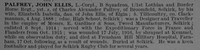 Palfrey J E L/Cpl 1679 Lothians and Border Horse Obit De Ruvignys Roll Of Honour Vol 4