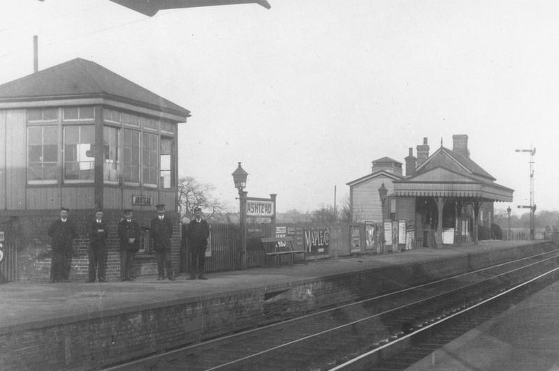 Station Staff At Ashtead Station 1900