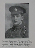 Jenkinson C T Cpl 1st York Lancs Regt Craven Roll Of Honour