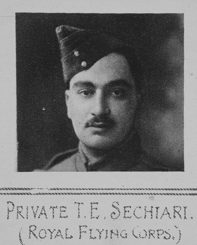 Sechiari T E 1st Air Mech 3860 Royal Flying Corps The Illustrated War News 29th Dec 1915
