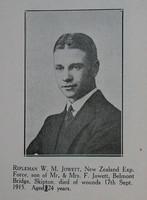 Jowett W M Rfn NZEF Craven Roll Of Honour