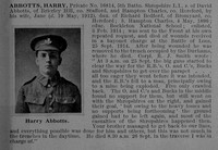 Abbotts H Pte 16814 5th Shropshire Light Infantry Obit De Ruvignys Roll Of Honour Vol 1