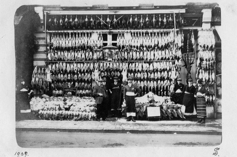 Butchers Shop No 7 High Street Sutton Christmas 1909