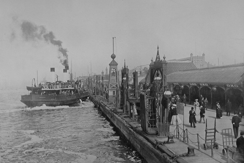 The Landing Stage Liverpool And New Brighton Ferry Boat c.1900