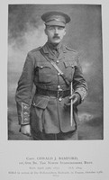Bamford O J Captain 6th North Staffs Regiment