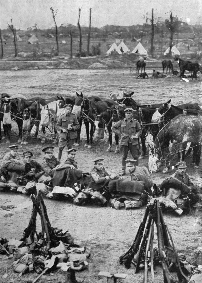 A Cavalry Lunch On The Western Front
