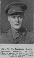 Eastgate-Smith C W Captain 2nd Manchester Regt The Sphere 28th Sep 1918