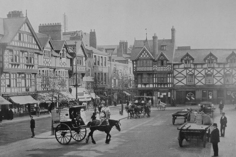 Market Square Chester c.1900