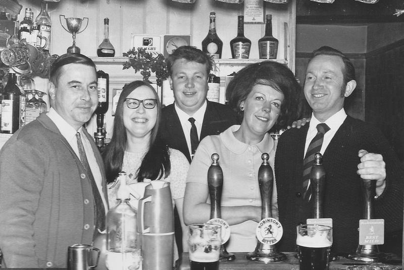 The George And Dragon Pub Holmes Chapel Cheshire 1970 Bar Staff