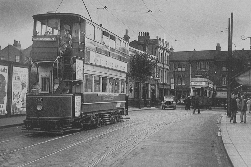 A Tram In Benhill Street Sutton c.1920