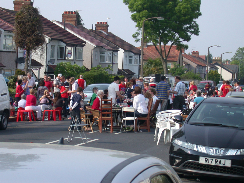 The Royal Wedding Street Party Cambridge Road Carshalton 2011