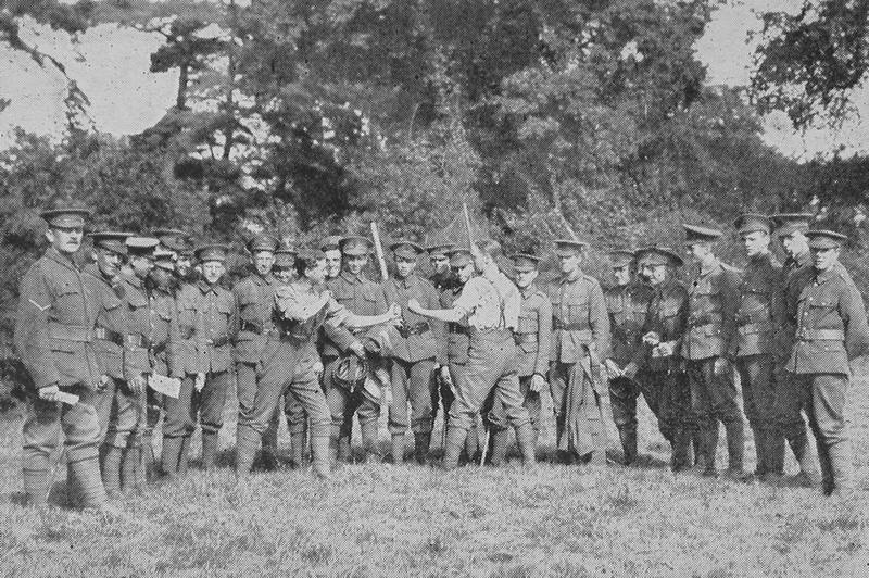 The 18th London Regiment In Camp