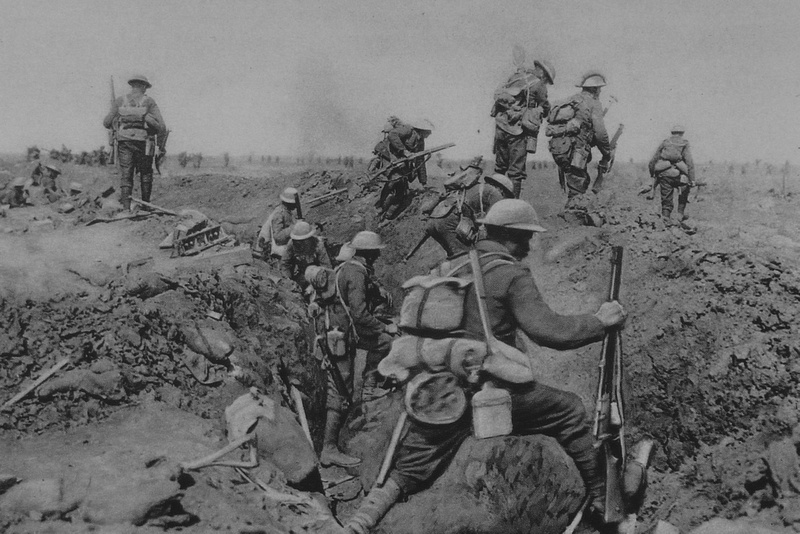 Infantry Leaving The Trenches To Take Part In The Battle Before Morval Sep 1916