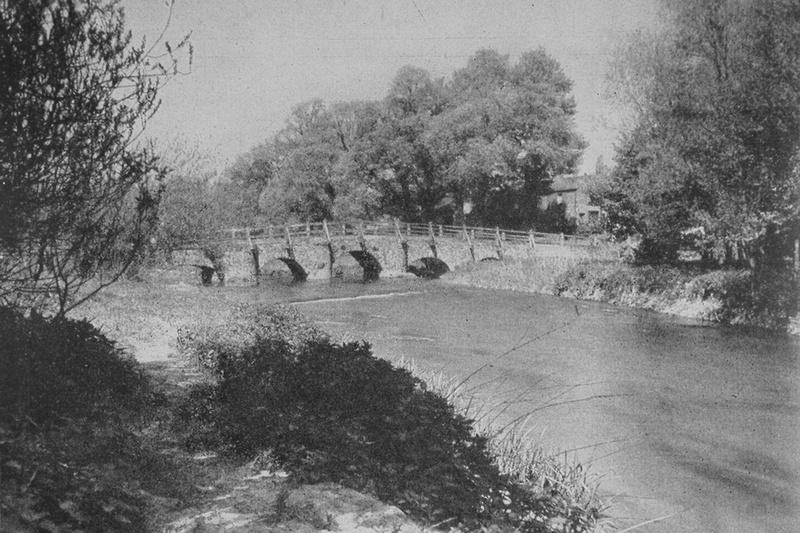 The River Wey At Tilford Bridge Surrey
