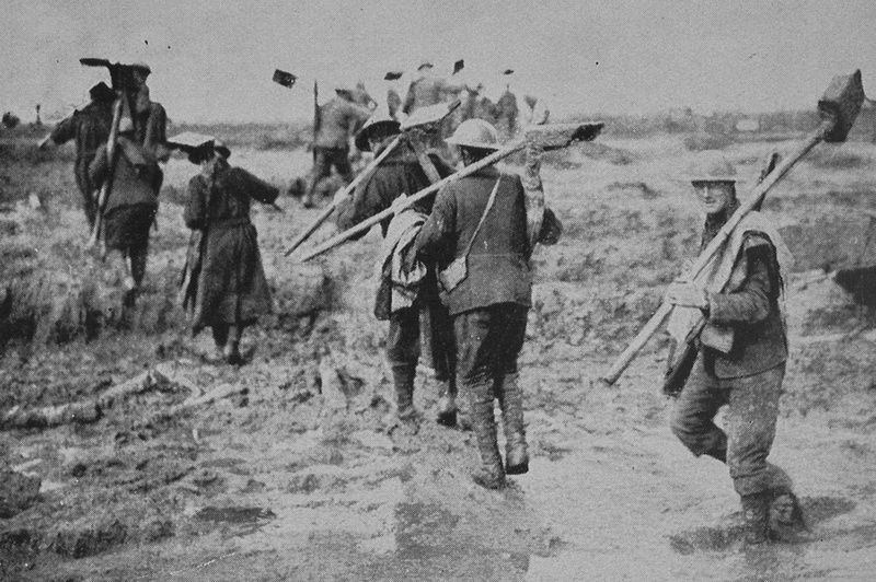 Crossing Newly Won Ground During The Fighting At Ypres