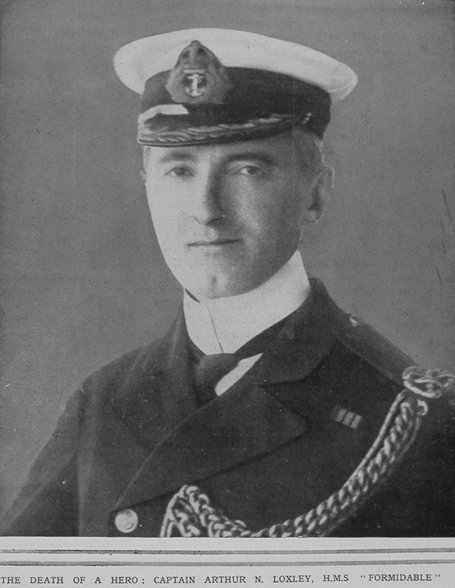 Loxley A N Captain HMS Formidable Royal Navy