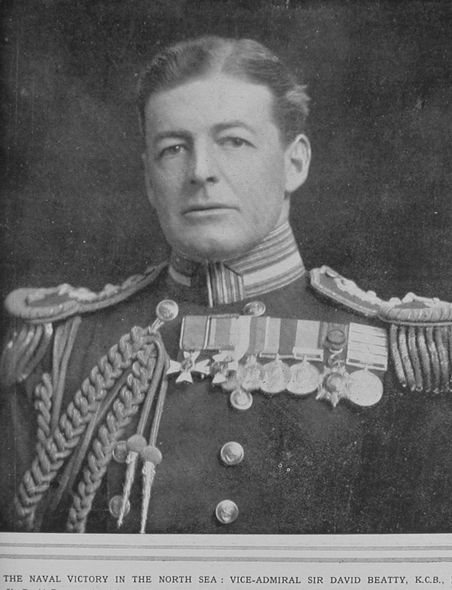 Beatty D Vice Admiral Sir Royal Navy