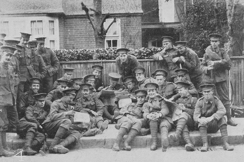 Men Of The 15th London Regiment Off Duty 1915