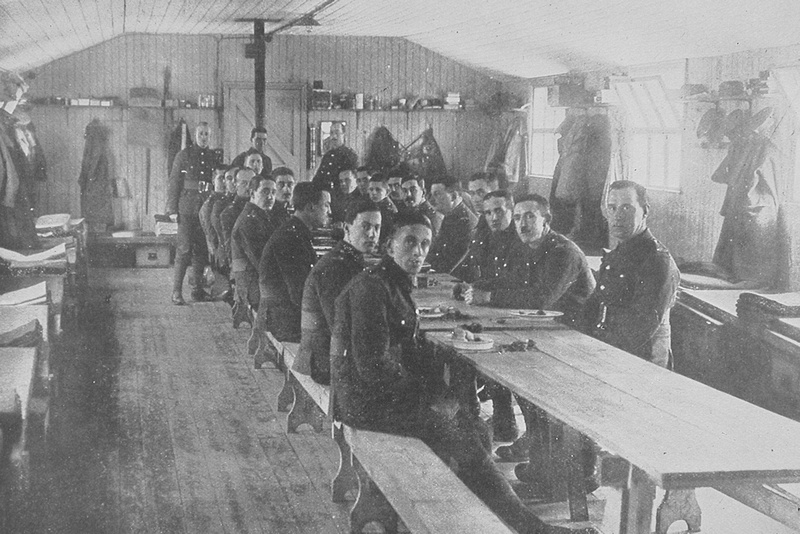 The Artists Rifles In Camp Richmond Park 1914