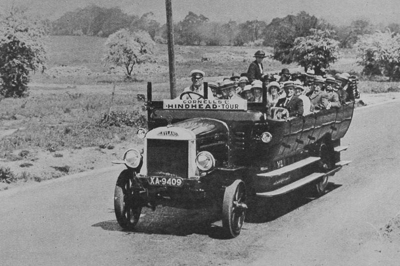 A Charabanc In Minehead 1920s