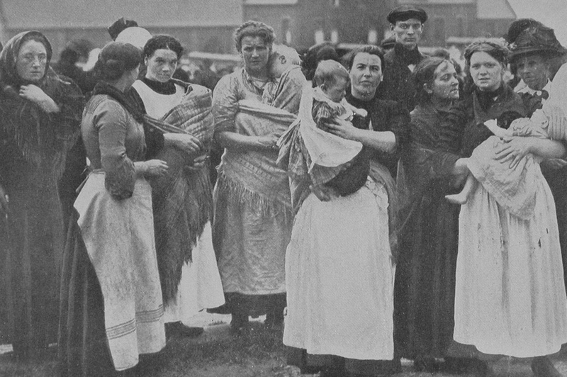Miners Wives Waiting For News After The Disaster At Cadeby Colliery 9th July 1912